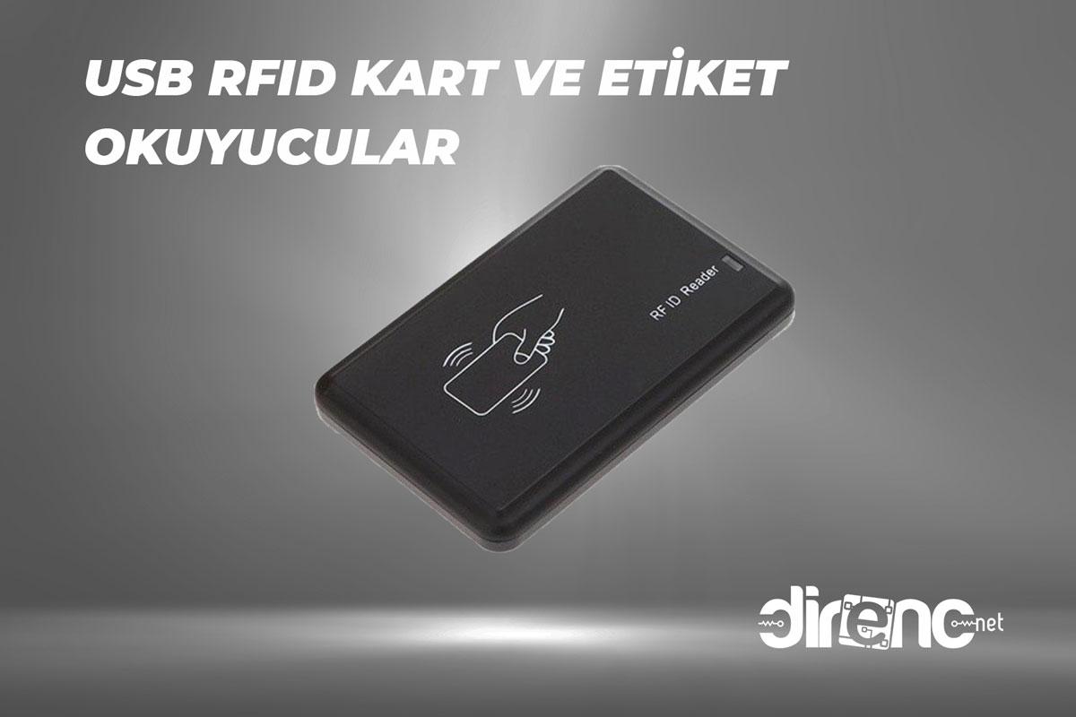 125 KHz/13.56 MHz USB RFID Kart ve Etiket Okuyucular