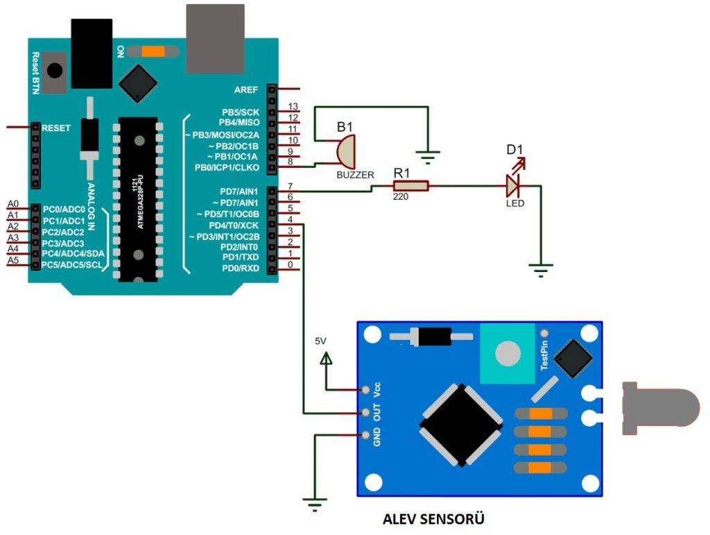 arduino-alev-yangin-algilama-sensoru-diagrami