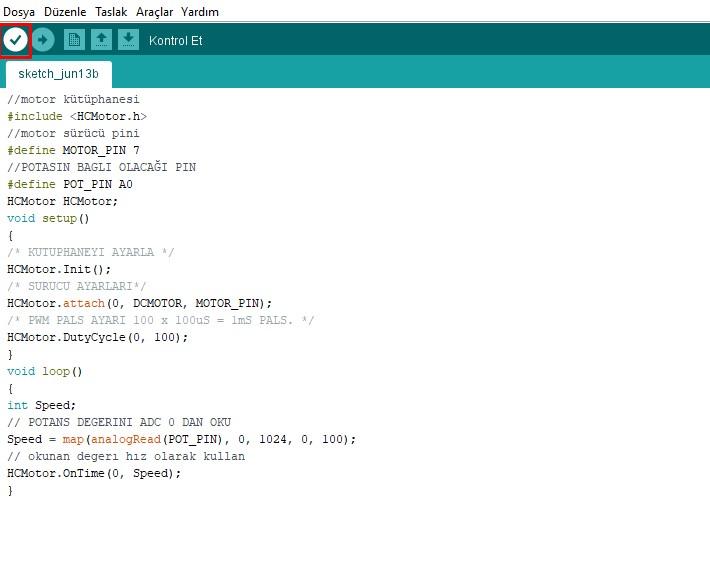 arduino kütüphane ekleme