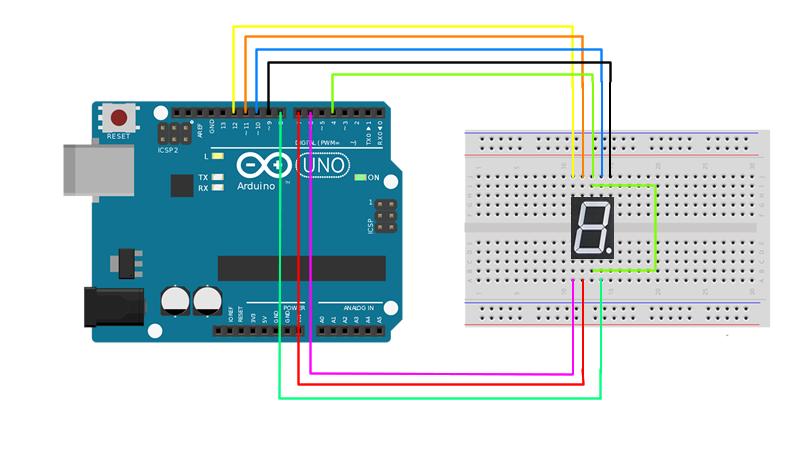 Arduino 7 Segment Display Bağlantı Bilgisi