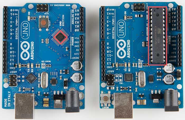 Arduino Uno Dip vs SMD Farkı