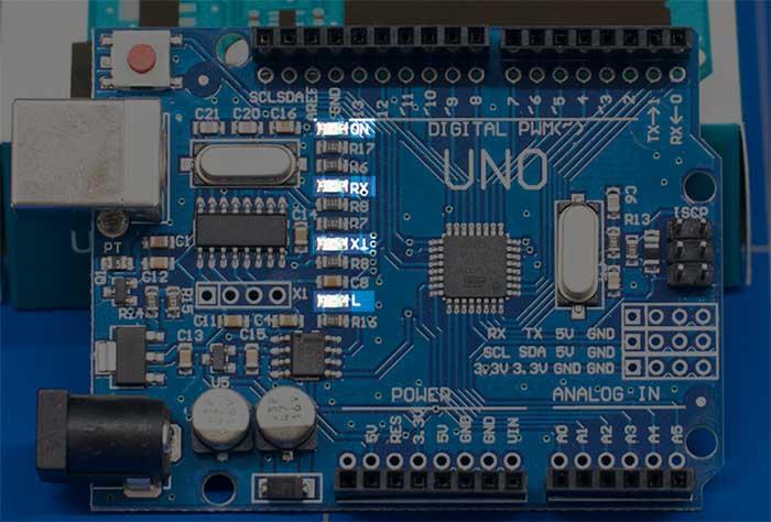 Arduino Üzerindeki Led - Işıklar - L Harfi - TX Işığı - RX Işığı - ON Led