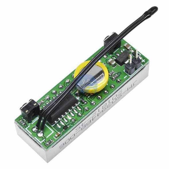 DS3231 Dijital Saat + Termometre + Voltmetre Modülü